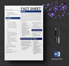 Company Fact Sheet Sample 8 Free Fact Sheet Templates Survey Campaign Free Premium