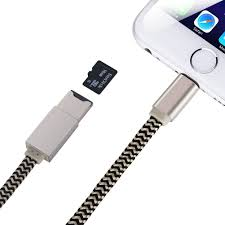 com yohoolyo usb memory card reader apple lightning cable external storage micro micro sd card slot 2 in 1 for iphone 7 7 plus 6 6 plus 5
