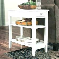 30 inch tall end table tall end table inch high accent tables lovely concave round metal