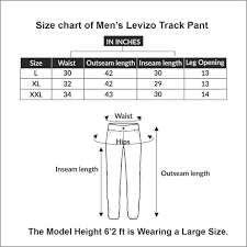 Inseam Vs Outseam Chart Levizo Cotton Gym Joggers Lowers And Track Pants For Mens