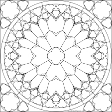 Rose Flower Mandala Picture To Color