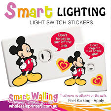 Turn Off Lights Stickers Free Mickey Mouse Light Switch Wall Sticker Totally Movable