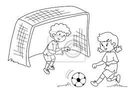 Fototapete Bambini Che Giocano Eine Calcio Bianco E Nero