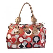 Coach In Signature Large Gold Satchels BBE