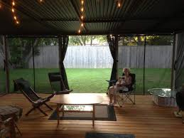 outdoor shade screen curtains for porch patio