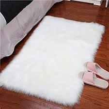 white faux sheepskin rug within com yj gwl super soft fur area rugs for plan