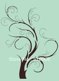 Wall Tree Stencil Designs Tree Branch Home Decor Wall Stencil Template Pattern Tree