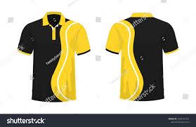 Yellow And Black T Shirt Designs Tshirt Polo Yellow Black Template Design Stock Vector