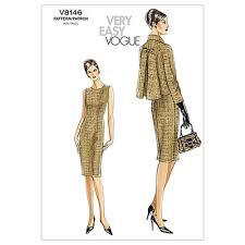 Vogue Pattern Inspiration Vogue Misses'Misses' Petite Jacket And Dress Pattern V48 Size AA48