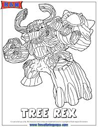 Small Picture Skylanders Giants Life First Edition Tree Rex Coloring Page H