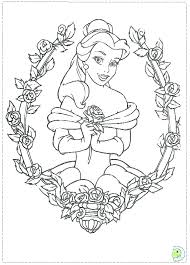 Beauty And The Beast Coloring Pages Beauty And The Beast Free Beauty