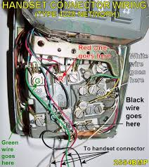 western electric products telephones model 2554 handset connector wiring