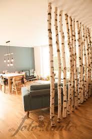 Trennwand Wohnwand Birkenstämme Holz Diefototante Birkenstämme