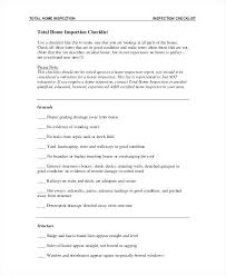 House Inspection List Total Home Inspection Checklist Template House