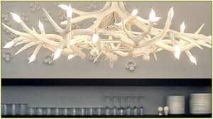 white antler chandelier modern