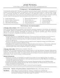 Sample Information Technology Manager Resume Lovely It Resume
