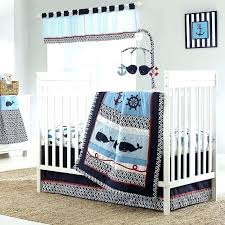 crib bedding baby bed nautical sailing whales ocean boys nursery 4 piece infant crib bedding crib bedding