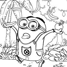 Coloring Minion Pages Minion Coloring Pages Image Posts Minion