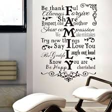 removable wall decal quotes  on large vinyl wall decal quotes with removable wall decal quotes vinyl wall art stickers large family