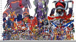 Robot Size Chart Size Comparison Chart Super Robot Taisen Super Robot Robot