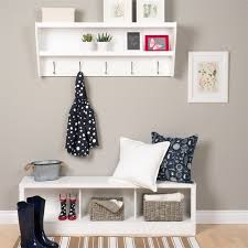 Image Shelf Walmart Prepac Floating Entryway Shelf And Coat Rack Walmartcom