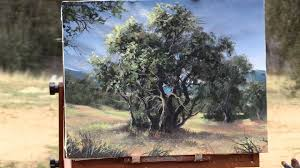 the olive tree grove plein air paint with kevin
