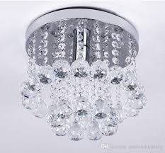 flush mount crystal chandelier attractive mini style 1 light spiral rain drop intended for 10