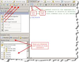 Msas Cubes Implementing Calculations In Ssas Using Mdx Part1