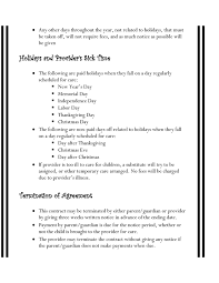 Nanny Sample Contract 19 Luxury Agreement Letter For Parents Pics ...