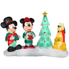 Christmas Decorations Sears Mickey Mouse Inflatable Christmas Decoration Holiday Cheer From Sears