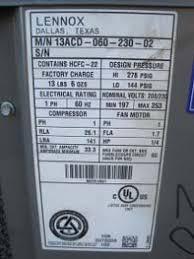 lennox 5 ton. 13acd, 5 ton lennox merit air conditioner condensing unit 13107 m