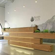 modern wood reception desk home design plaza mayor medellin