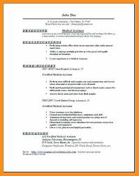 Certified Medical Assistant Resume New 4848 Example Of Resume For Medical Assistant Cvdata