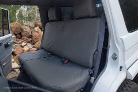 black duck canvas seat covers toyota landcruiser 2 door troop carrier 70 series vdj78 workmate