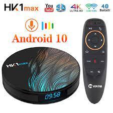 Smart Tv Box Android 10 10.0 HK1 Max 4Gb 128Gb 64Gb 32Gb Rockchip 4K Tvbox  youtube Wifi Android Tv Set Top Box Media Player|Set-top Boxes