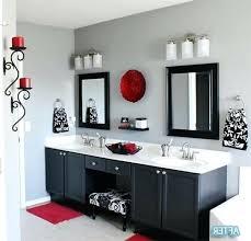 bathroom accessories decorating ideas. Red Bathroom Decor Ideas Best On Grey Black Fixtures Decorating . Accessories