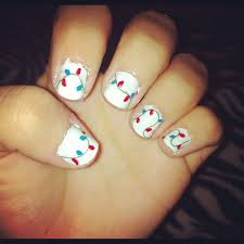 Christmas Light Nails String Christmas Light Nail Art Just A Little String And Nail