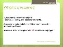 preparing an effective resume napa valley college career center 4 what