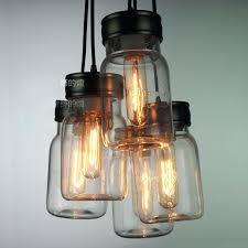 glass jar pendant light s s g glass coffee jar pendant light