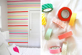 diy room decor washi tape wall width