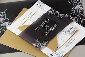 Black And White Invitation Paper Black Vellum Invitation Design Ideas Chic Contemporary