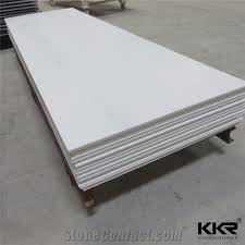 12mm glacier white corian solid surface sheet for hotel bathroom shower walls