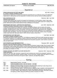 Refrigeration Maintenance Resume Example