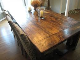 dining room rustic table diy white tulip flower centerpiece brown paint wall ideas wooden round