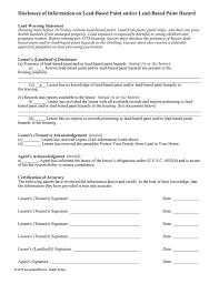ohio lead based paint disclosure form property disclosure form state by state lease disclosures ezlf