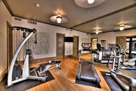 Gym decor ideas home gym contemporary with raised panel doors exercise  equipment wood floor