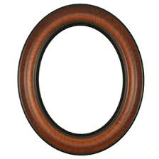 antique wood picture frames. Lancaster Oval Frame # 450 - Vintage Walnut Antique Wood Picture Frames E