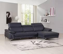anastasia blue genuine italian leather sectional las vegas furniture modern home furniture cornerstone furniture