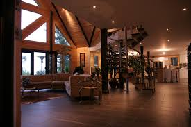 Modern Log Cabin Living Rooms Genuine Home Design - Log home pictures interior