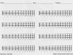 Ukulele Chord Chart 1 Uke Notes Pinterest Blank Ukulele Chord
